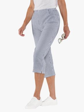 Capri kalhoty - tmavěmodrá-proužek
