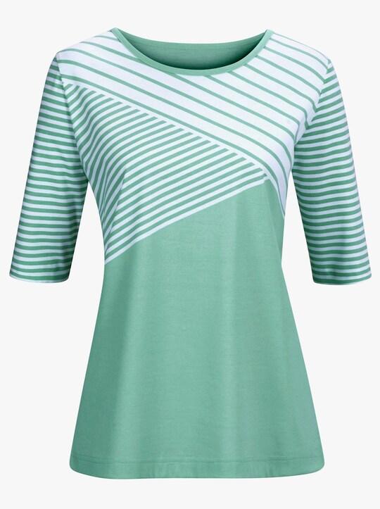 Shirt - groen gedessineerd