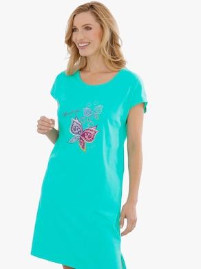 Nachthemd - blauwgroen