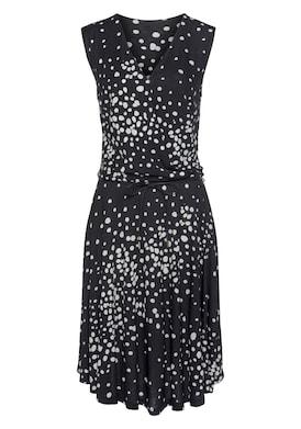 Vivance Jerseykleid - schwarz-weiß-bedruckt
