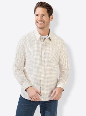 Langarm-Hemd - beige