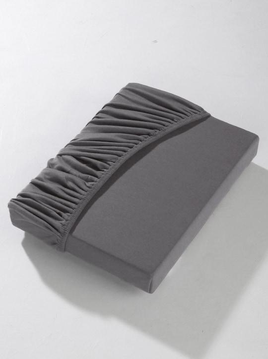 wäschepur Spannbetttuch - anthrazit