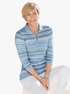 Pullover - lichtblauw gestreept
