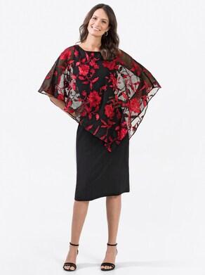 Fair Lady Kleid - rot-gemustert