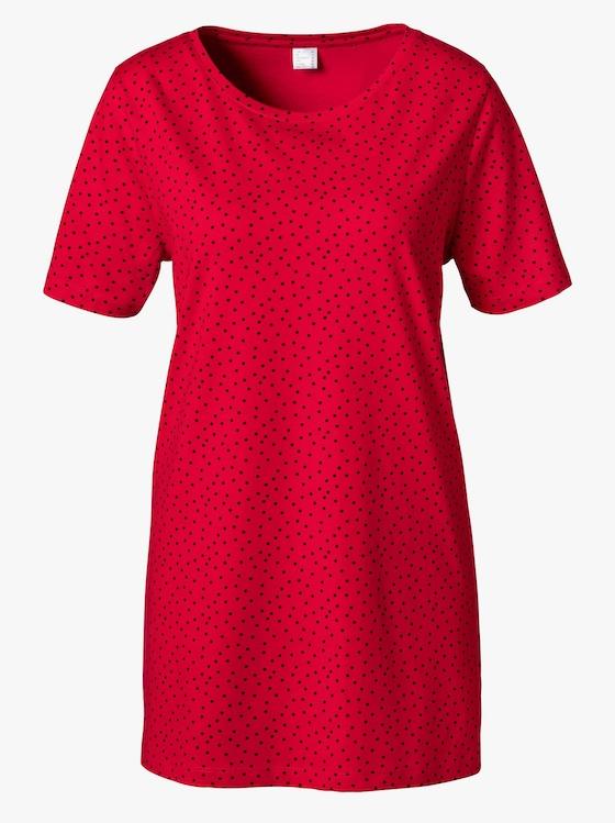Longshirt - rot-schwarz-bedruckt