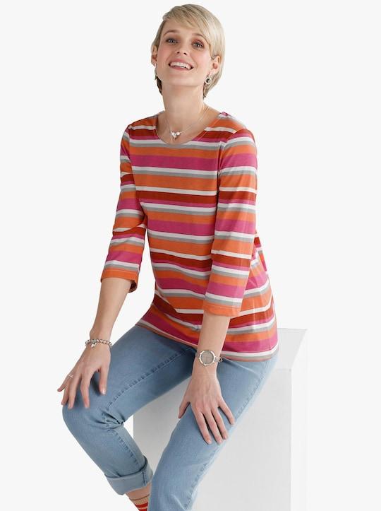 Shirt - zalm gestreept