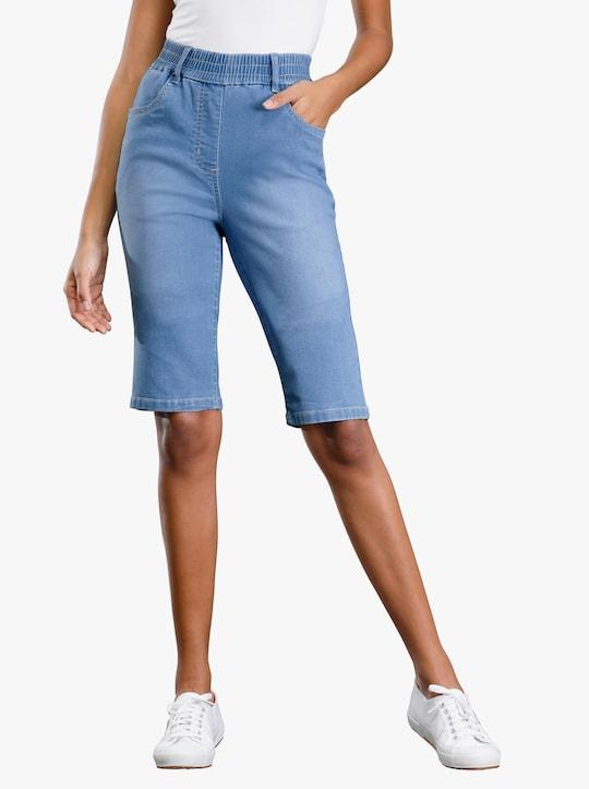 Jeansbermudas - blue-bleached