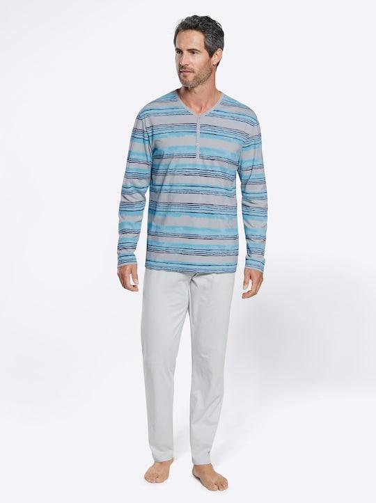 wäschepur Schlafanzüge - grau + marine