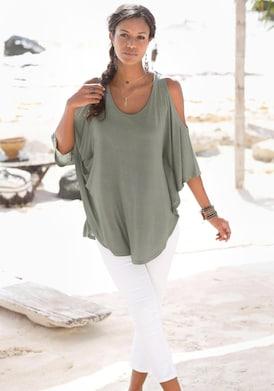 LASCANA Strandshirt - khaki