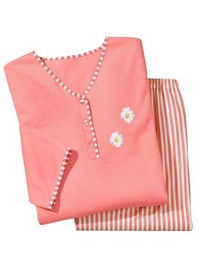 Ascafa Schlafanzug - lachs-gestreift