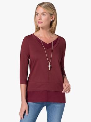 Lang shirt - braamrood
