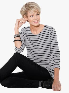 Shirt - grijs gestreept