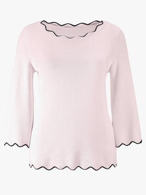 Pullover - rosé-schwarz