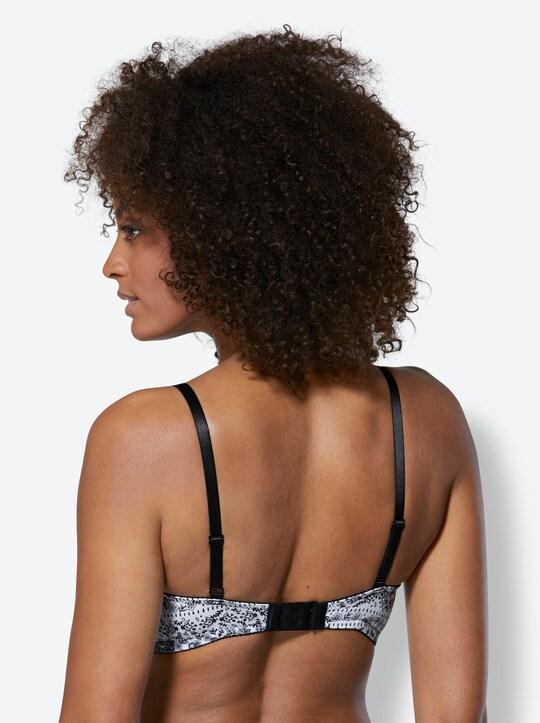 wäschepur Schalen-BH ohne Bügel - schwarz-weiß-gemustert
