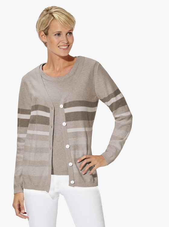 Collection L Twinset - taupe-meliert-gestreift