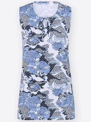 Longtop - nachtblau-gemustert