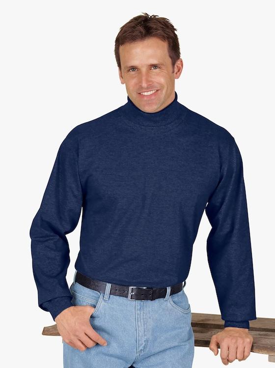Tričko s rolákovým límcem - námořnická modrá