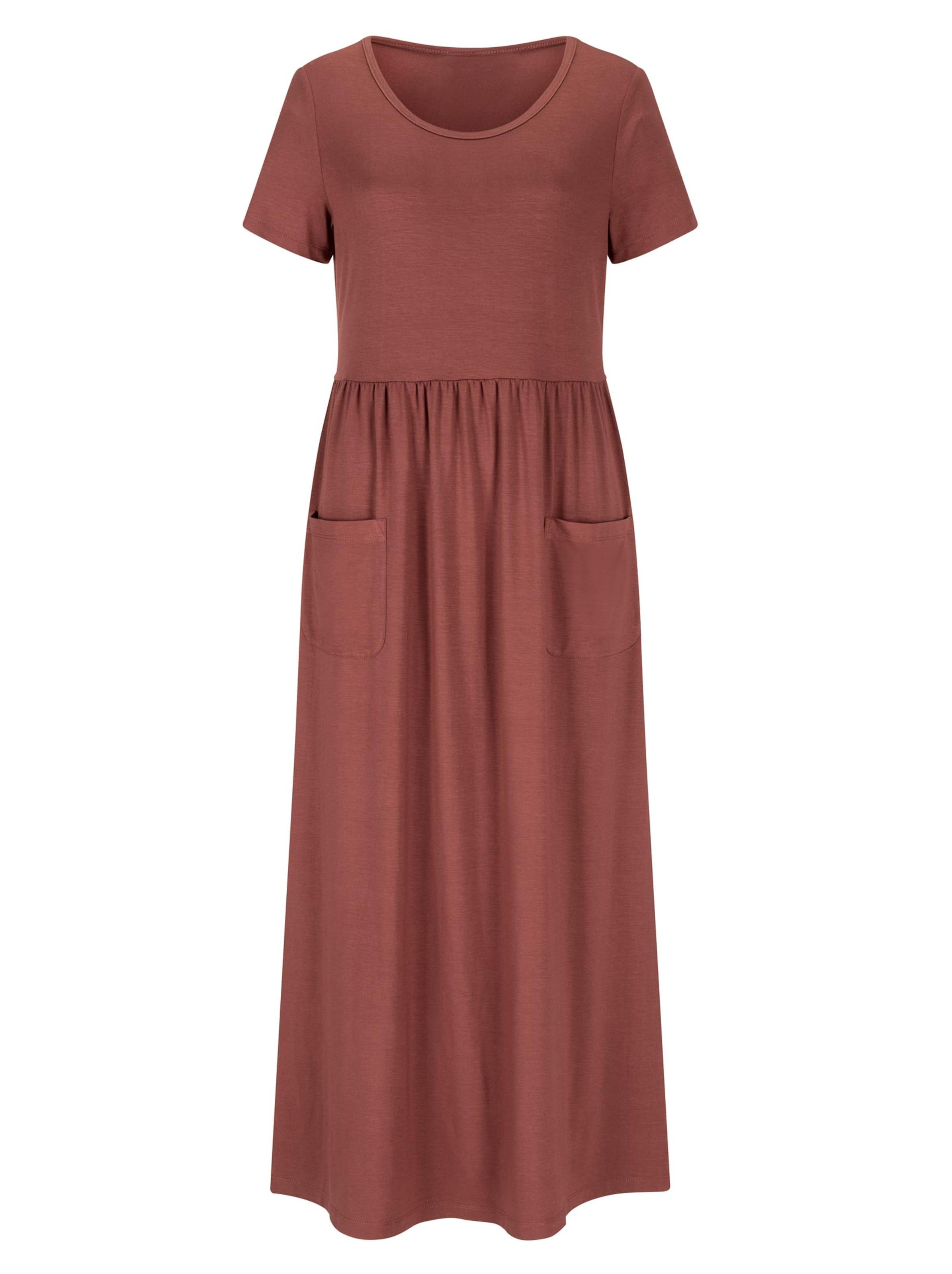 witt weiden -  Damen Jersey-Kleid rotbraun