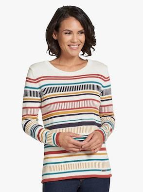 Pullover - bunt-geringelt