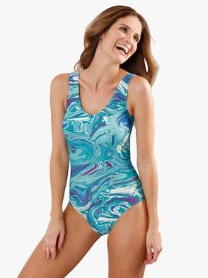 Plavky - modrá vzorovaná