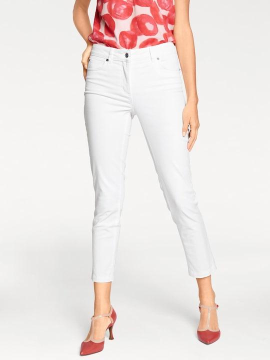 Ashley Brooke Bauchweg-Jeans - weiß