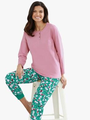 Pyžamo-Tričko - starorůžová