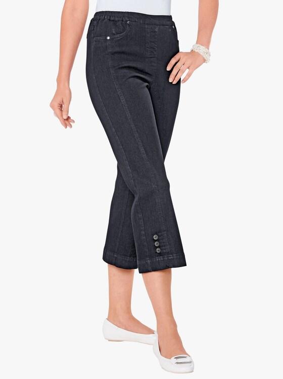 3/4-jeans - black denim