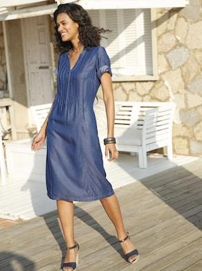 Collection L Jurk - jeansblauw