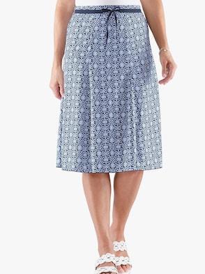 Sukně - námořnická modrá-vzor