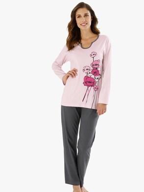 Schlafanzug - rosé-grau