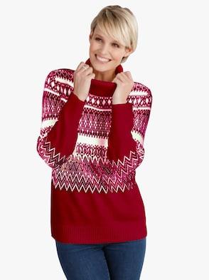 Pullover - rood gedessineerd