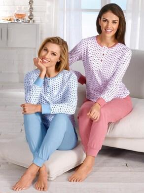wäschepur Pyjama's - bleu + heide