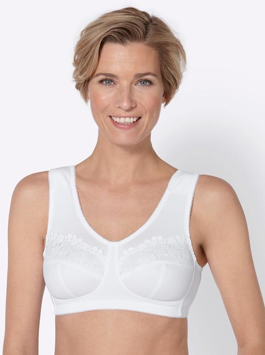 Susa Entlastungs-BH ohne Bügel - weiß