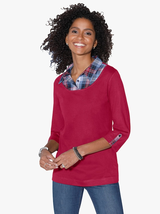 2-in-1-shirt - rood