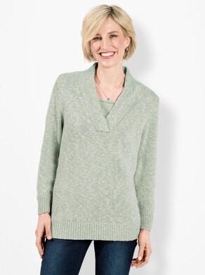 Pullover - kalkmint gemêleerd