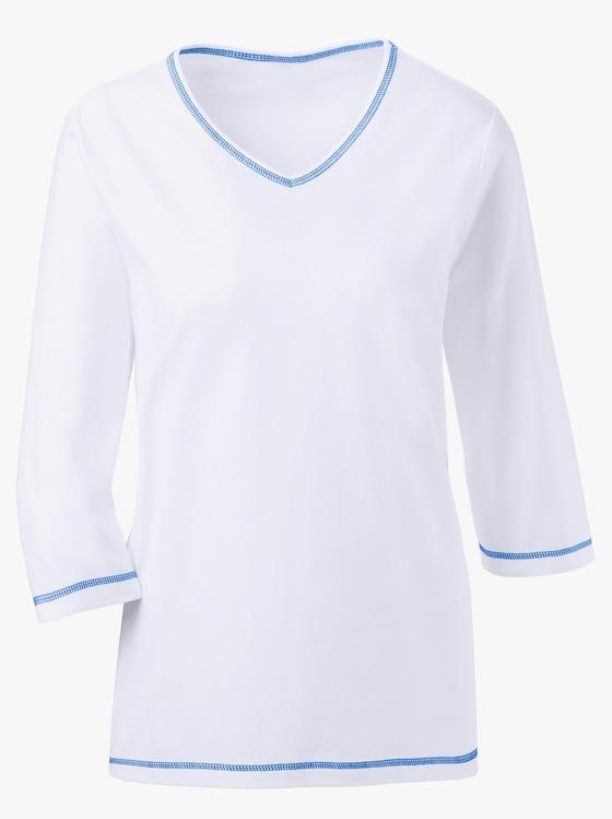 Schlafanzug-Shirt - weiß