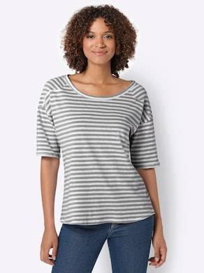 Collection L Shirt - antraciet gestreept