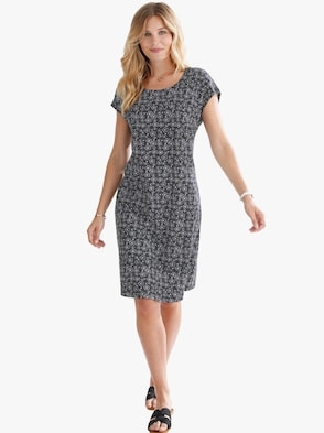 Jersey-Kleid - schwarz-millefleurs