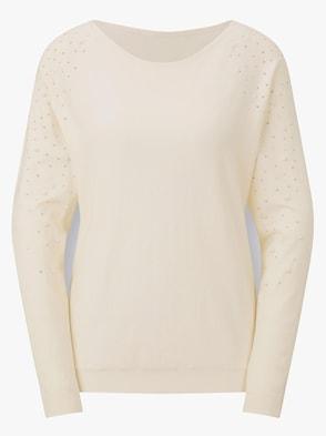 Pullover - elfenbein