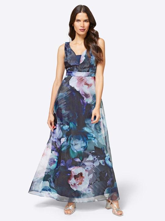 Patrizia Dini Abendkleid - marine-mint-bedruckt