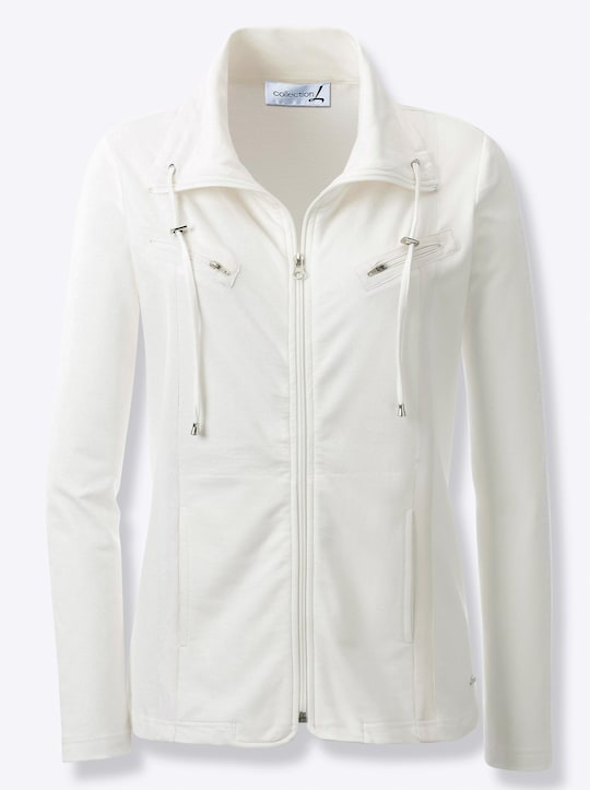 Collection L Shirtjacke - wollweiß