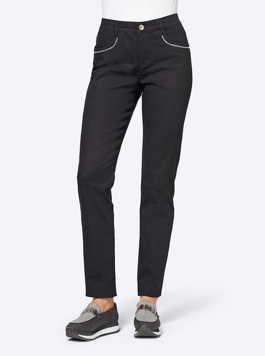 Rick Cardona Bauchweg-Jeans - schwarz