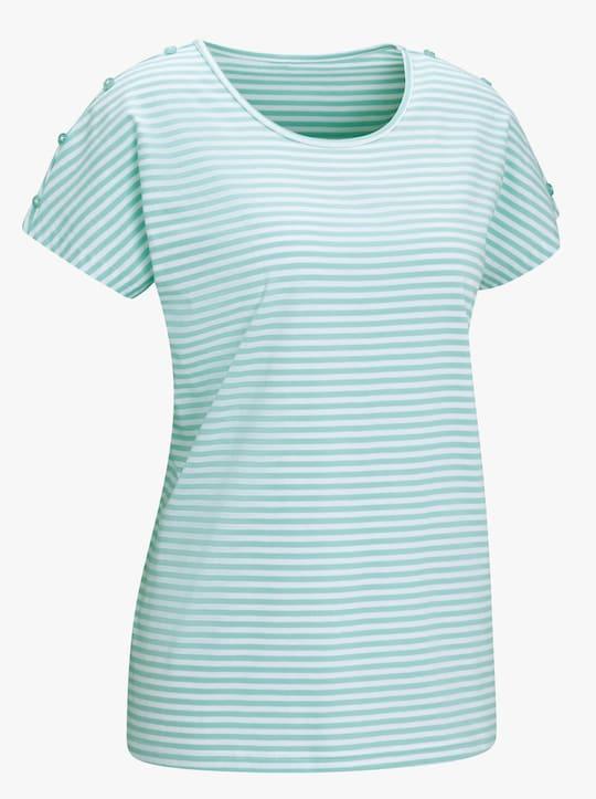 Shirt - mint gestreept