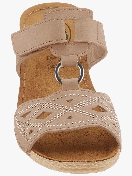 Franken Schuhe Pantolette - beige