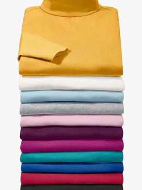 Tričko s rolákovým límcem - růžová