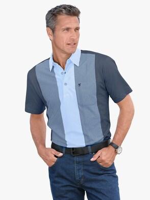 Kurzarm-Shirt - jeansblau-hellblau