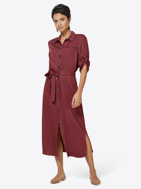 Kleid - ziegelrot