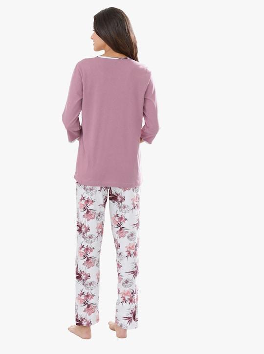 Pyjama - oudroze bedrukt
