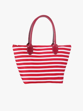Handtasche - rot-gestreift