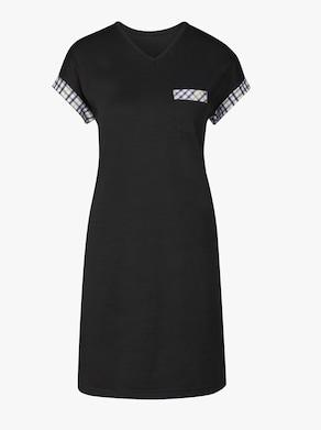 wäschepur Sleepshirt - schwarz